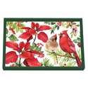 Michel Design Works Poinsettia Vanity Decoupage Wooden Tray