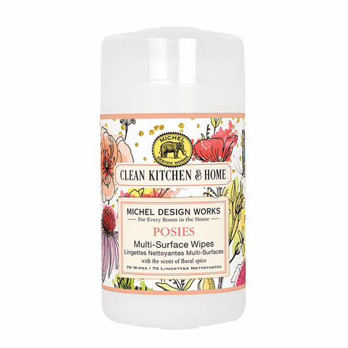 Michel Design Works Posies Multi Surface Wipes