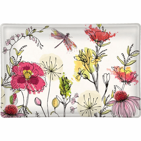 Michel Design Works Posies Rectangular Glass Soap Dish