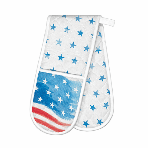 Michel Design Works Red, White & Blue Double Oven Glove