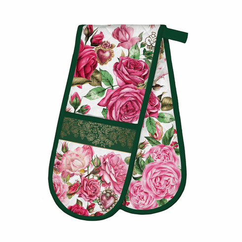 Michel Design Works Royal Rose Double Oven Glove