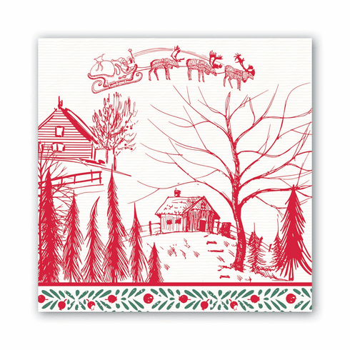 Michel Design Works Santa's Eve Luncheon Napkin