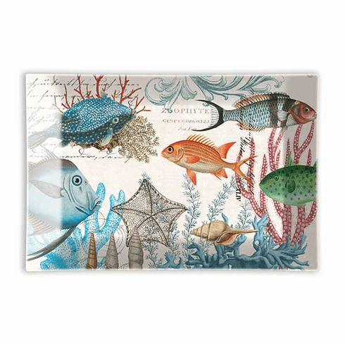 Michel Design Works Sea Life Rectangle Glass Soap Dish