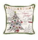 Michel Design Works Seasons Greetings Square Pillow
