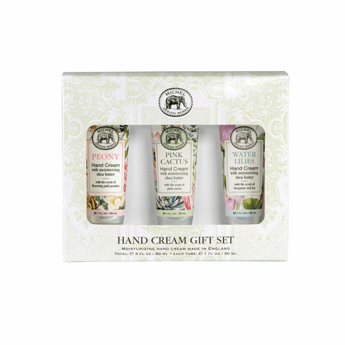 Michel Design Works Small Hand Cream Gift Set (Peony Pink Cactus Water Lilies)