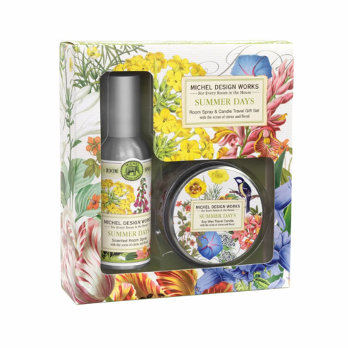 Michel Design Works Summer Days Room Spray and Travel Candle Set