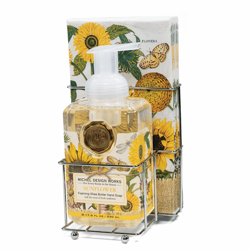 Michel Design Works Sunflower Foaming Soap Napkin Set