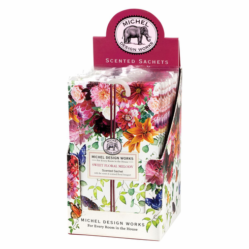 Michel Design Works Sweet Floral Melody Scented Sachet Unit of 12