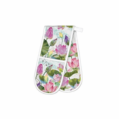 Michel Design Works Water Lilies Double Oven Glove