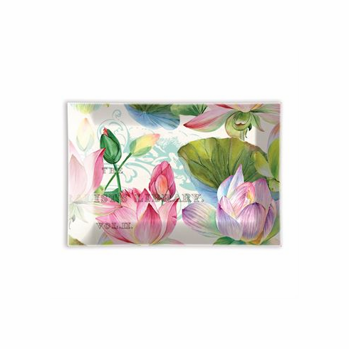 Michel Design Works Water Lilies Rectangular Glass Soap Dish