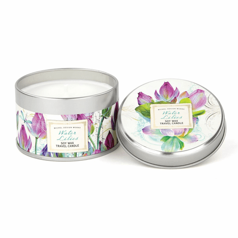 Michel Design Works Water Lilies Travel Candle