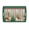 Michel Design Works Winter Woods Large Decoupage Wooden Tray