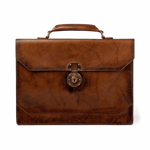 Mission Mercantile Benjamin Briefcase Hickory