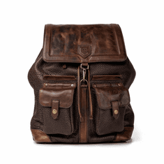 Mission Mercantile Theodore Leather Backpack - Espresso