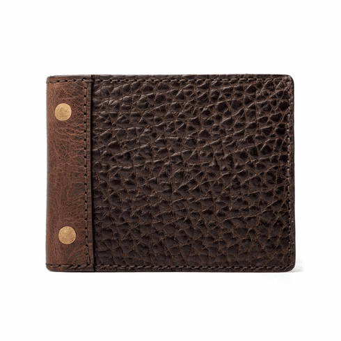 Mission Mercantile Theodore Leather Bi-fold Wallet - Espresso