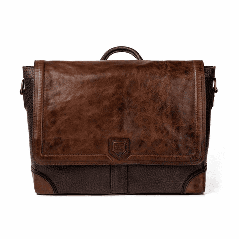 Mission Mercantile Theodore Leather Messenger - Espresso
