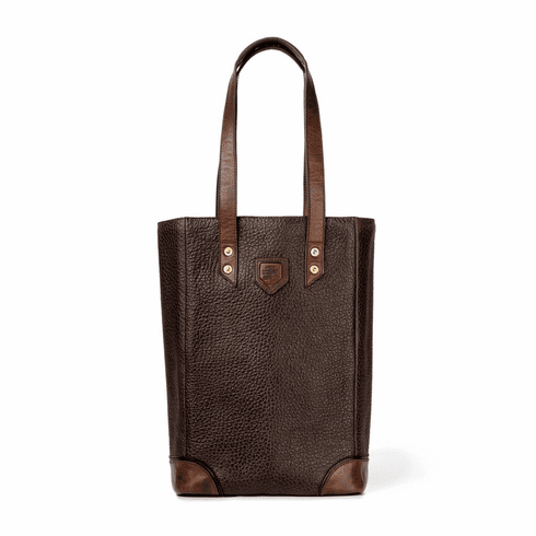 Mission Mercantile Theodore Leather Wine Tote