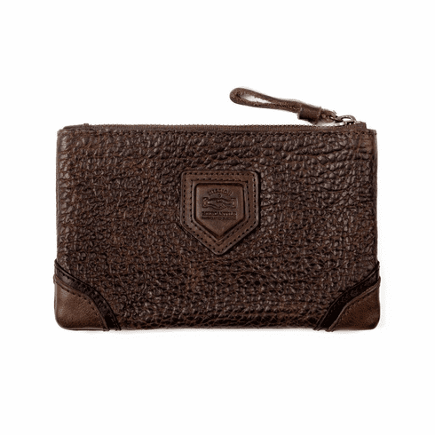 Mission Mercantile Theodore Leather Zippered Pouch
