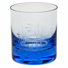 Moser Whisky Ocean Life 12.5oz DOF Glass Aquamarine