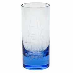 Moser Whisky Ocean Life 13.5oz Hiball Glass Aquamarine