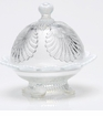 Mosser Glass Shell Butter Dish - Crystal Opal