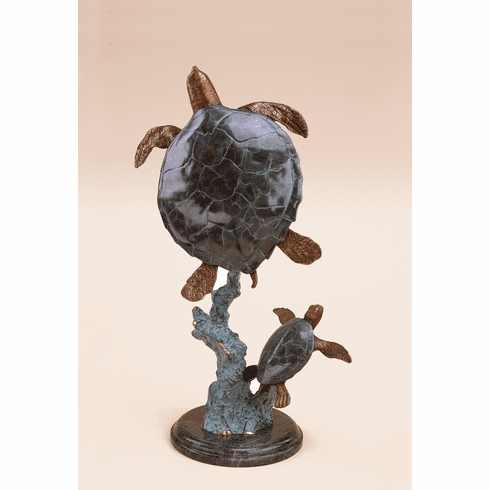 Mother & Baby Sea Turtles Sculpture by SPI Home
