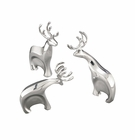 Nambe Blizten Reindeer Sculpture Set (Set of 3)