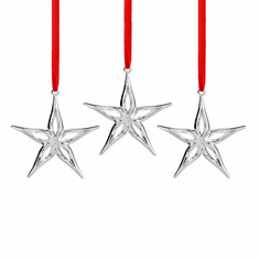 Nambe Holiday - Mini Star Ornament Set of 3