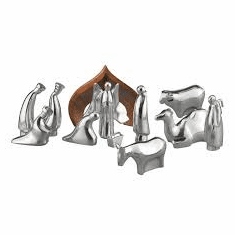 Nambe Holiday - Nativity Set with Storage Box 12 pieces