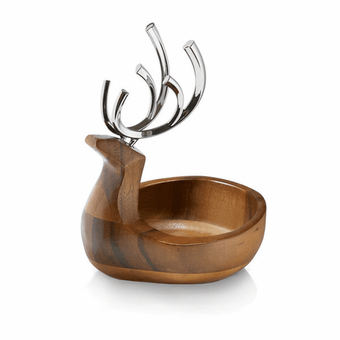 Nambe Holiday - Reindeer Candy Dish