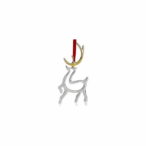 Nambe Holiday - Reindeer Ornament