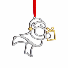 Nambe Holiday - Santa Ornament