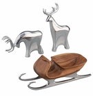 Nambe Holiday - Sleigh with Reindeer