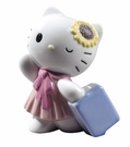 Nao by Lladro Porcelain Traveling with Hello Kitty Figurine