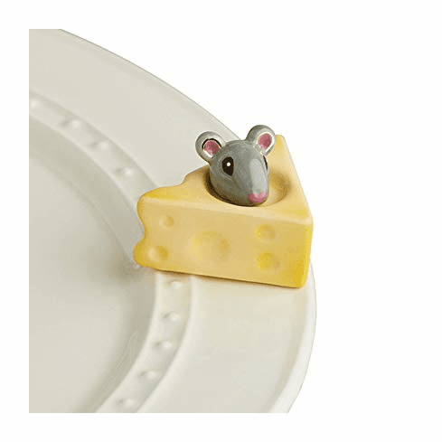 Nora Fleming Cheese, Please! Mini Ceramic Charm