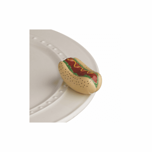 Nora Fleming Hot Dog Mini Ceramic Charm