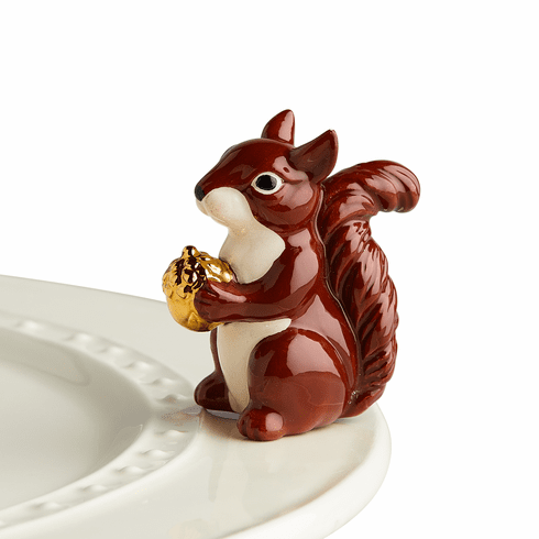 Nora Fleming Mr. Squirrel Mini Ceramic Charm
