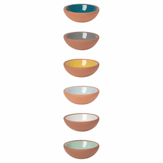 Now Designs Pinch Bowl Terra Cotta Set 6