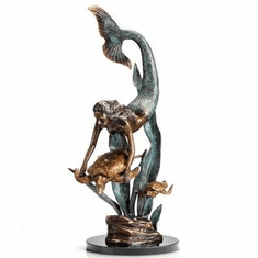 Ocean Explorers Mermaid and Turtles Sculpture by SPI Home