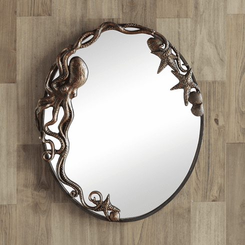 Octopus Oval Wall Mirror by SPI Home