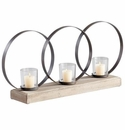 Ohhh 3 Candle Wood Candleholder by Cyan Design
