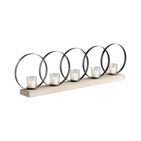 Ohhh 5 Candle Wood Candleholder by Cyan Design
