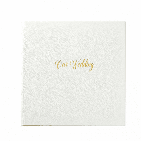 Our Wedding Leather Bound Book