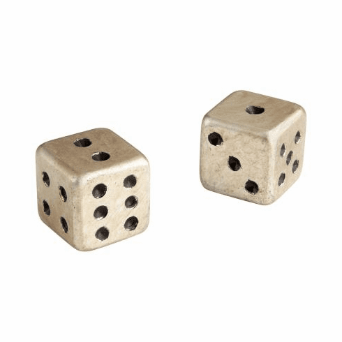 Pair of Dice Sculpture by Cyan Design