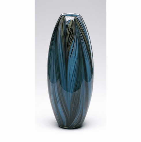 Peacock Feather Glass Vase by Cyan Design