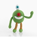 Pebble Monster Rattle - Green