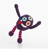 Pebble Monster Rattle - Purple