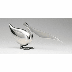 Pelican Chromed Brass Sculpture by Cyan Design