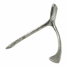 Pewter Iron Wishbone Sculpture by Cyan Design