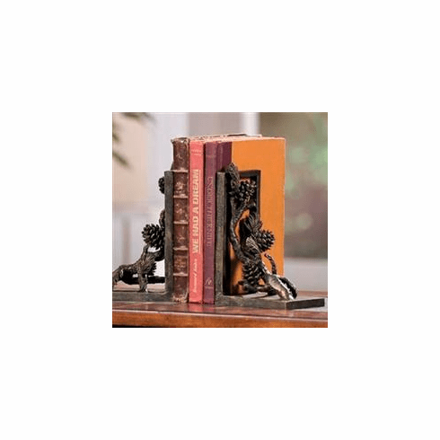 Pinecone Bookends by SPI Home